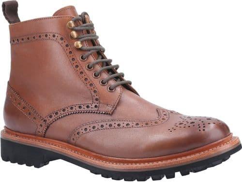 Cotswold Rissington Commando Mens Boots Brown